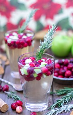 This festive white sangria just screams Christmas. Candied rosemary, blanched cranberries and crisp white wine make all that family time just a little bit more bearable.