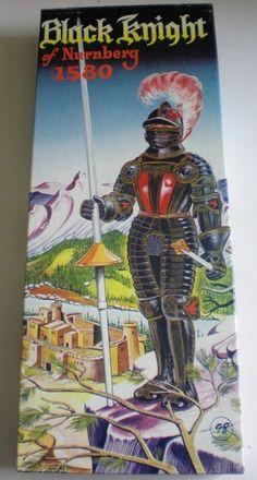Aurora Black Knight of Nurnberg 1580 Vintage 1956 Plastic Model Kit 1 8 K3 98hr | eBay