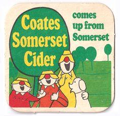Coates Somerset Cider Vintage Beer Mat