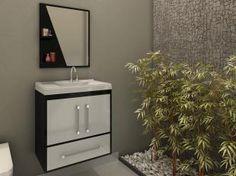 Gabinete para Banheiro com Cuba e Espelho 2 Portas - 2 Portas 1 Gaveta - Móveis Bechara Atenas II