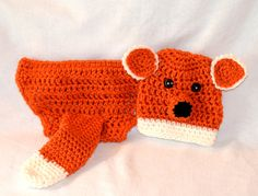 Newborn Baby Boy Crochet Fox Outfit