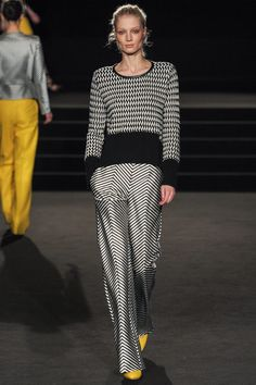 Crazy black & white patterns by Sass & Bide | Fall 2013 Ready-to-Wear Collection | Style.com