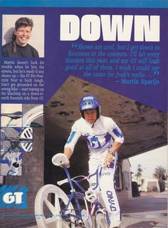 1988 GT freestyle advertisement featuring Martin Aparijo