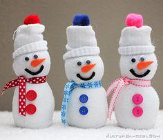DIY Snowman Kendin Yap Kardan Adam  KulturBahcesi.Com