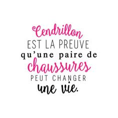 Sticker mural Cendrillon Noir et fuchsia 60 x 60 cm Plus Funny Quotes, Life Quotes, Quote Citation, French Quotes, Positive Attitude, Sentences, Slogan, Quotations, Affirmations