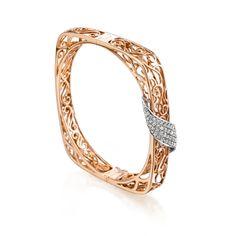 18K Gold Diamond Bangle-21510