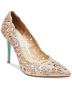 Blue by Betsey Johnson Elsa Evening Pumps - Pumps - Shoes - Macy's