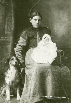 Florentine Beaupré with her son Edouard Beaupré