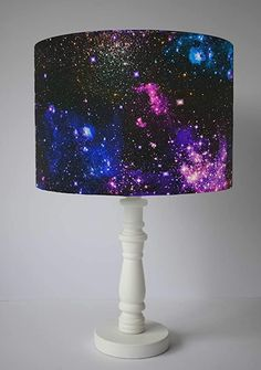 Galaxy Lampshade, Space Home Decor, Choice of 3 diameter sizes, Ceiling Pendant, Table Lamp: Amazon.co.uk: Handmade Baby Room Themes, Baby Room Diy, Bedroom Themes, Room Decor Bedroom, Galaxy Decor, Galaxy Theme, Sky Nursery, Nursery Room, Bedroom Ceiling