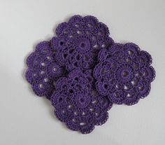 vintage inspired crochet coasters