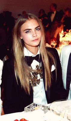 Cara in a bow tie // genius