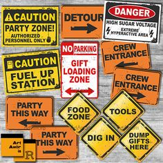 Construction Party Signs, Construction Birthday, Construction Party Printables, Construction Signs, - All About Construction Party Decorations, Construction Signs, Construction Birthday Parties, Construction Cakes, Construction Worker, Farm Birthday, 2nd Birthday Parties, 1st Birthdays, Birthday Ideas