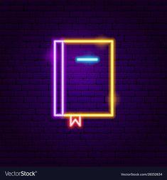 Book neon label vector image on VectorStock Mickey Mouse Wallpaper Iphone, Wallpaper Iphone Neon, Pop Art Wallpaper, Aesthetic Iphone Wallpaper, Neon Backgrounds, Cute Wallpaper Backgrounds, Neon Light Art, Cute App, Neon Words