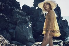 Zimmermann Resort Swim 16: Wide Brim Sunhat, Belle Web Dot Top