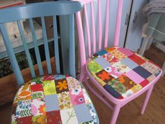 Skinibears Vintage patchwork kitchen chairs