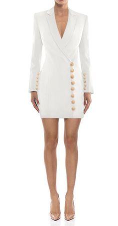 Suit Jacket Dress, Blazer Dress, Jumpsuit Dress, White Business Dress, Business Dresses, Dress Outfits, Casual Dresses, Fashion Dresses, Dresses For Work