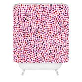 Found it at Wayfair - Garima Dhawan Polyester Watercolor Dots Berry Shower Curtain