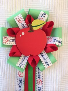 Best Teacher Favorite Teacher Gift Corsage Pin  on Etsy, $14.00