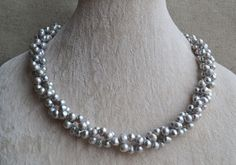 Gray Pearl Necklace18 inches 66.5mm freshwater by goodgoodjewelry, $34.00