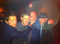 Misha, Jensen, Cliff and Ty via twitter