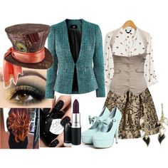 A fashion look from September 2012 featuring H&M blazers, Betsey Johnson earrings and Disney hats. Browse and shop related looks. Mad Hatter Diy Costume, Mad Hatter Outfit, Mad Hatter Party, Movie Halloween Costumes, Toy Story Costumes, Kid Halloween, Alice In Wonderland Costume, Wonderland Party, Disney Outfits