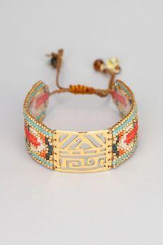 Mishky - Bijou - Bracelet perles et métal doré Africa