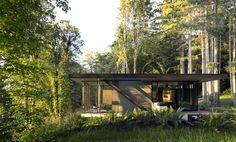 Une maison d'architecte au cœur de la forêt de Seattle © Jeremy Bittermann