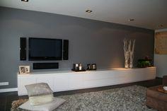 TV Meubel wit grijs hout