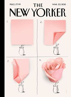 "The New Yorker - Monday, March 23, 2015 - Issue # 4584 - Vol. 91 - N° 5 - « Style Issue » - Cover ""A Rose"" by Christoph Niemann"