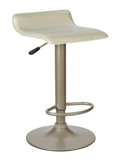 Winsome Wood 93829 Single Airlift Swivel Stool with Beige PVC Seat