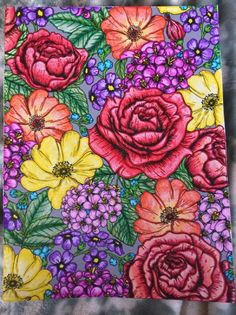 #Enchantedforest by Heather #flowers #adultcoloringbooks