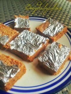 KHOYA BARFI RECIPE - Made from leftover khoya after making ghee.