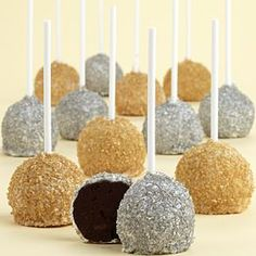 Gold & Silver Cake Pops