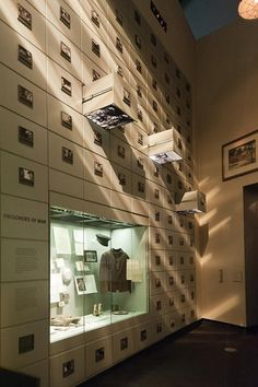 Permanent exhibition dedicated to prisoners of war, Imperial War Museum, Salford, Greater Manchester, England, United Kingdom, 2012, photograph by Jacqueline Poggi.