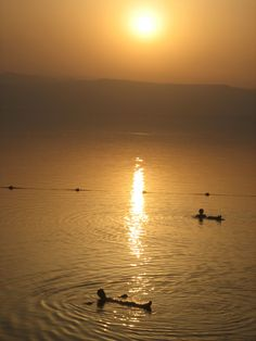 The Dead Sea , hurts like hell if you have shaved or have a cut but a great experience