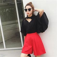 Buy Everose 3/4-Sleeve Cutout-Front Plain Blouse at YesStyle.com! Quality products at remarkable prices. FREE WORLDWIDE SHIPPING on orders over US$35.