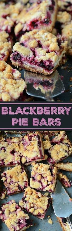 Blackberry Pie Bars! A burst of berries combined with all the delicious buttery crust in each bite!