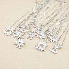 KPOP EXO Members Logo necklace silver version