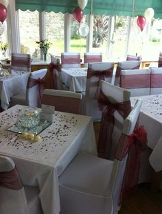 Chair covers and sashes make all the difference to your event clean and sleek