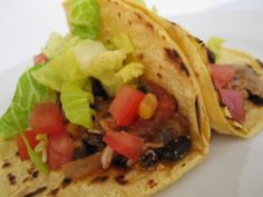 Chicken & Black Bean Tacos (Slow Cooked…)