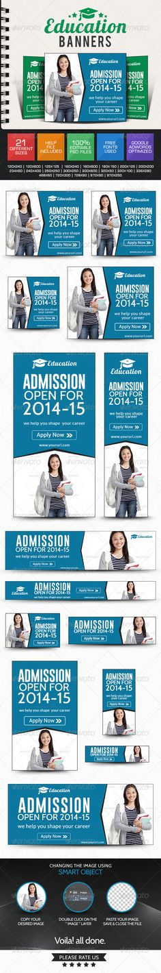 College & University Web Banners Template PSD | Buy and Download: http://graphicriver.net/item/college-university-banners/7809064?WT.ac=category_thumb&WT.z_author=doto&ref=ksioks