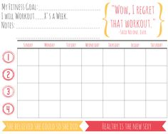 Tracking Sheets  Fitness    Exercises