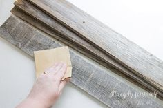 sand wood smooth