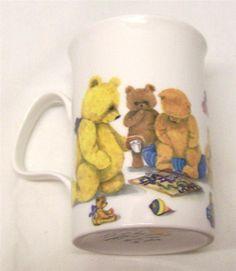 Teddy Bear Mug 1992 Roy Kirkham Designed by Karen Buckley Fine Bone China UK