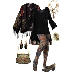 Dolly #1 by crycamellia on Polyvore featuring Kite and Butterfly, Look From London, Irregular Choice, Jamie Joseph, Maria Zureta, White House Black Market, Wunderkind, vintage inspired and dolly kei