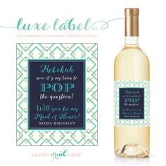 Custom Bachelorette Party Wine Labels  Bridal Shower Wine