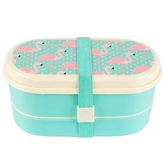 Lunch box with flamingo print