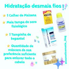 Hidratação Caseira – Com Maizena – Dicas de Cosméticos e Feminices Body Hacks, 20 Min, Face And Body, Hair Care, Hair Beauty, Personal Care, Blog, Makeup, Tips