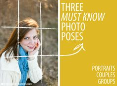 """Starting out, posing subjects was always the most difficult thing for me to figure out. """"Err.. stand over there.. and smile."""" Lets face it - an awkward pose can ruin even the most beautiful shot. Here are several of my """"go to"""" fail-proof photography poses that work like a charm!   #potraits #couples #Groups  Photobucket"""