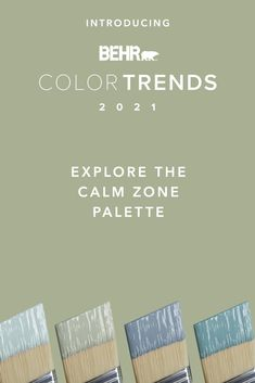 Expand your comfort zone with these gentle shades from our Calm Zone palette. Explore the soothing range of blues and greens from Jean Jacket Blue S510-4, Jojoba N390-3, Dayflower MQ3-54 and Voyage PPU13-07, created to enhance the comfort of your home. Click below to see more.